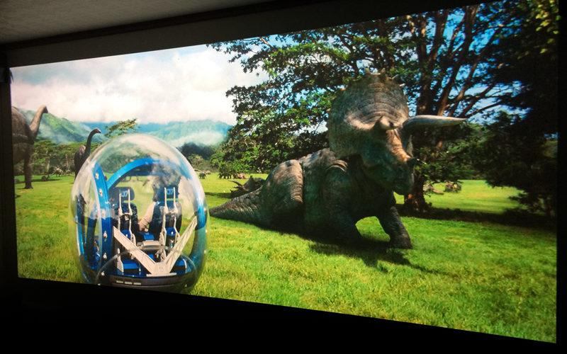 Jurassic World,映画,感想,ホームシアター,アナモフィックレンズ,プロジェクター,3D