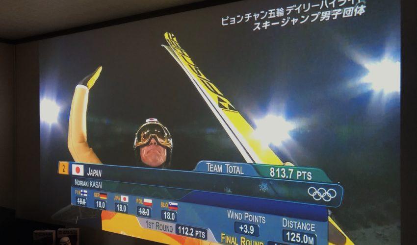 東京オリンピック,プロジェクター,テレビ放送