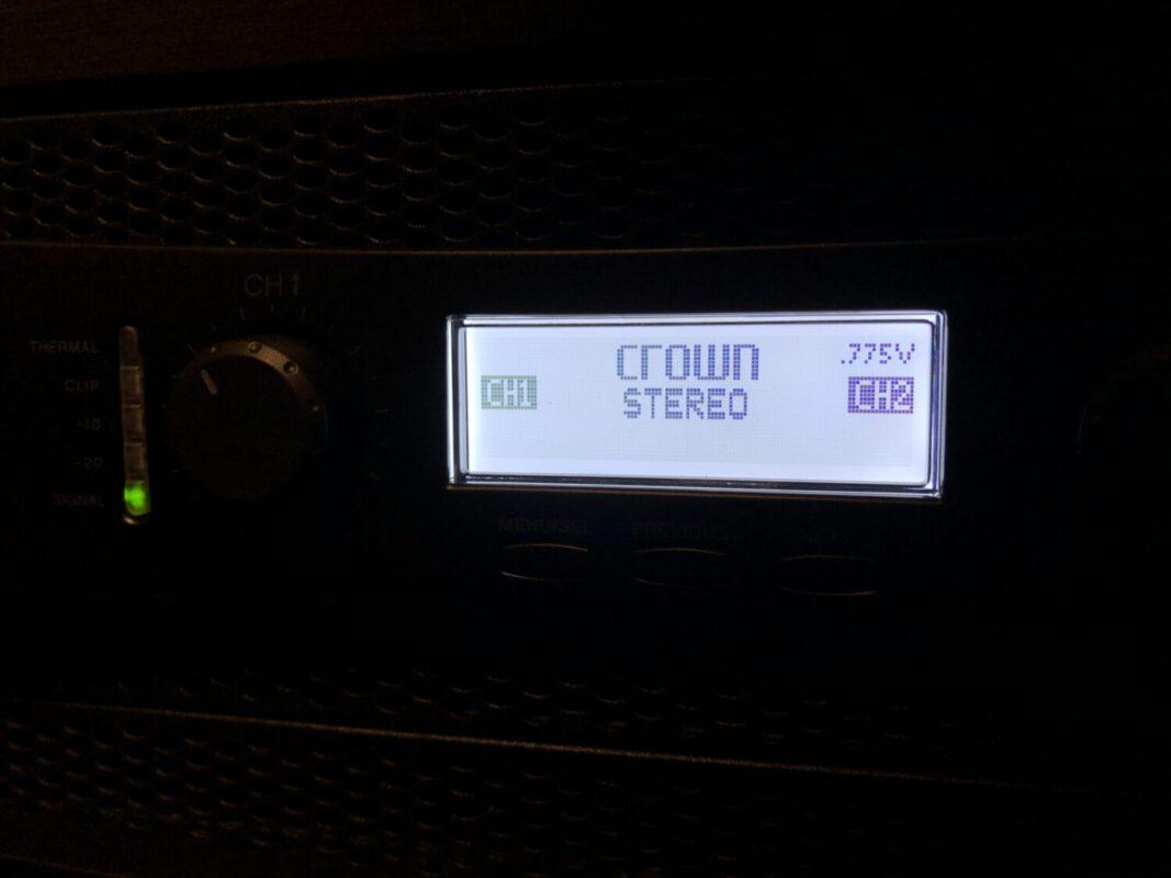 CROWN XLS1002,パワーアンプ,ホームシアター,バイアンプ