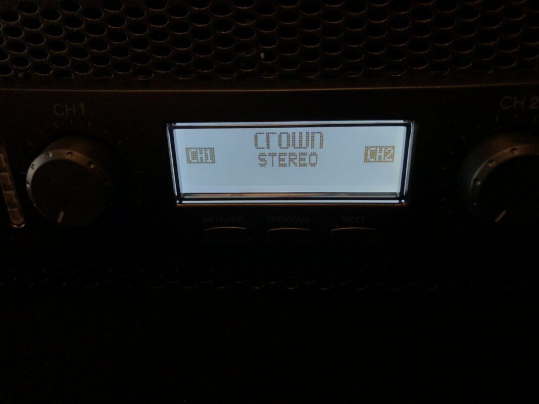 CROWN XLS1002,パワーアンプ,ホームシアター